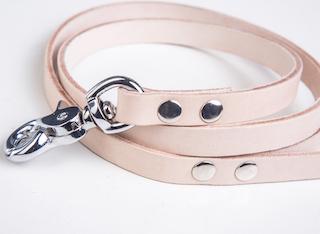 Dogaholic Handmade Dog Accessories Silver Beige Leash